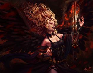 Vampire Angel by ayuttt