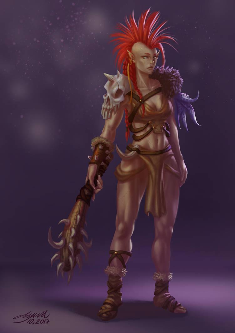 Barbaric Elf by ayuttt