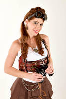 Stacie - Steampunk Pinup 02 by Tsaos
