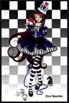 chess.. black queen by ladylionink