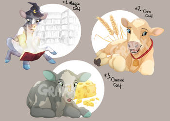 Adoptable Cow Calf for 12$ by i-Grafix