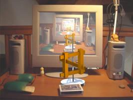 My desk by magicbob3D