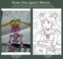 Draw this again meme by lowlaury