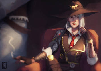 Overwatch: Ashe by Ouroridae
