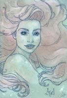 Ariel portrait sketch by chostopher