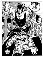 Batman vs. Bane by Batman4art