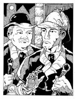 Holmes and Watson by Batman4art