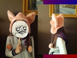 The wannabe Fluffle Puff hat by DarkCherry87