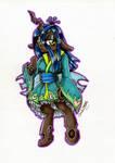 Queen Chrysalis ~anthro by DarkCherry87