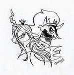 Chryssie x Sombra by DarkCherry87