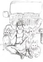 Dogs - WIP by tranki-zieleniack