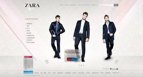A New Zara webdesign by ahmedelzahra