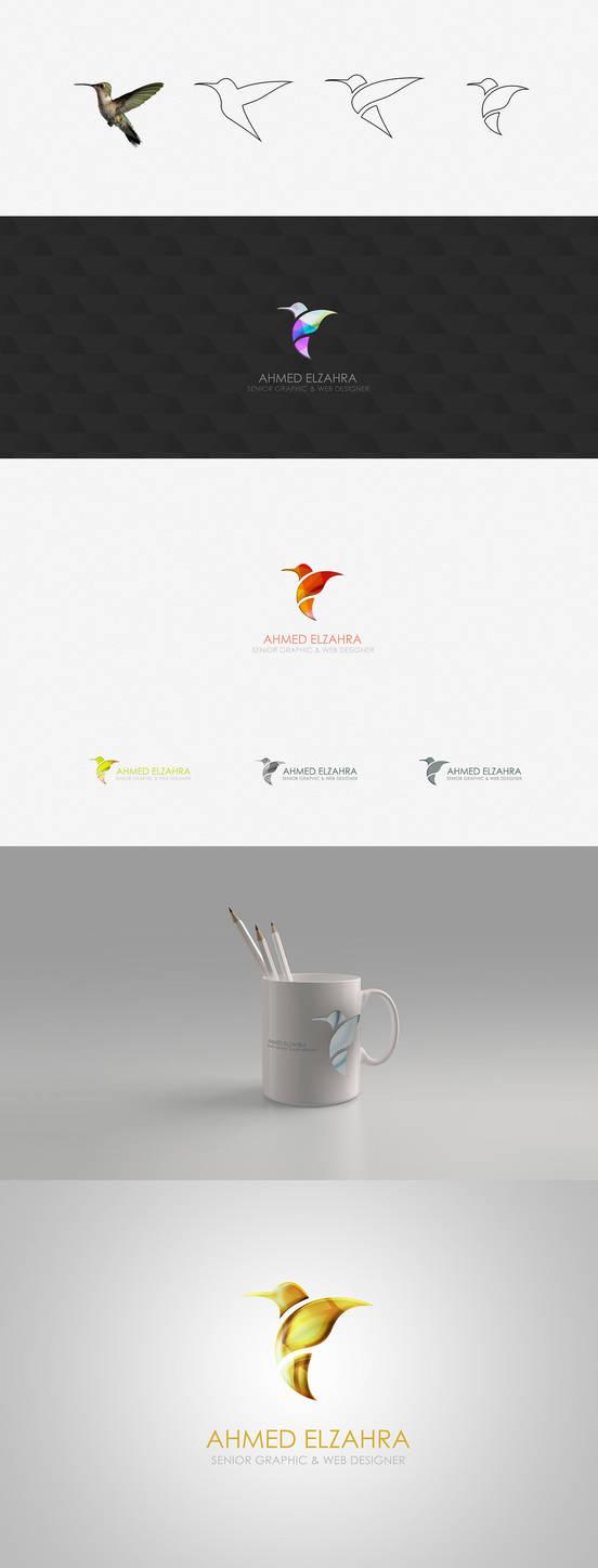 Humming Bird Logo Design by ahmedelzahra