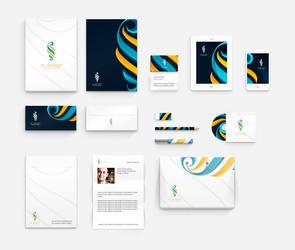 Corporate identity for Rowad leadership academy by ahmedelzahra