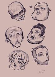 Doodle heads by NeMi09