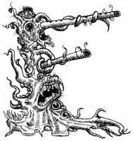 Lovecraft Alphabet - E by Curiosis