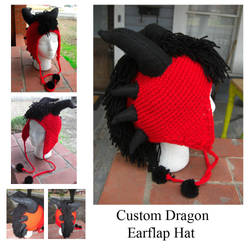 Crochet Dragon Hat by TheCrochetDragon