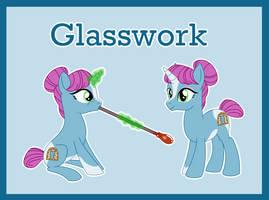 Glasswork ref (OC) by Bakufoon