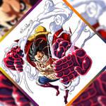 Luffy: Gear Forth by KrisLalev