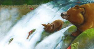 The Salmon's Day by SophieLeta