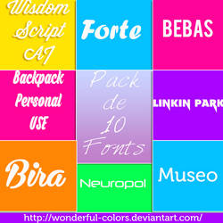 Pack de 10 fonts by Wonderful-Colors