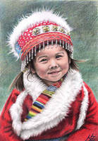 Tibetan Girl by ArtsandDogs