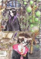 Harry Potter VS Green Bubbles by Moony-sama