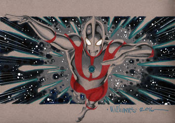 Ultraman commission for Little John by BroHawk