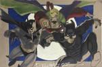 Phoenix commission Batman GreenLantern WildCat by BroHawk