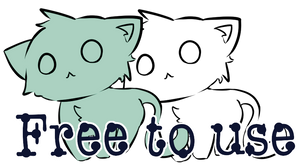 Free To Use Cat Lineart by NiaWorks