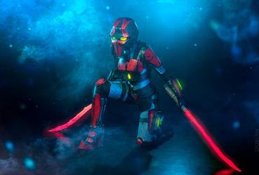 Crimson Lance Assassin Cosplay - Borderlands by Meariku