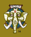 The Elephant Respect by Garcho