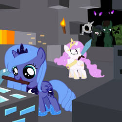 Luna And Celestia Playing Minecraft (D'MAN) by TheMinecraftFriends2