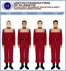Starfleet Enlisted Cadet Duty Uniforms (2280-2329) by ATXCowboy