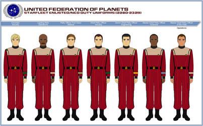 Starfleet Enlisted Duty Uniforms (2280-2329) by ATXCowboy