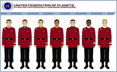 Starfleet Officer Duty Uniforms (2280-2329) by ATXCowboy