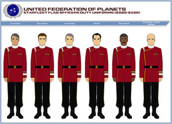 Starfleet Flag Officer Duty Uniforms (2280-2329) by ATXCowboy