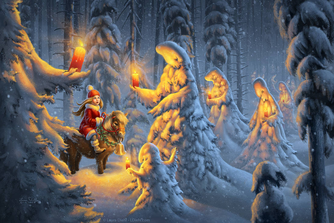 Winter's Procession by ldiehl
