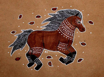 Autumn Horse by RedCloudlet