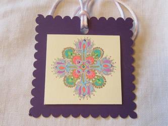 Gel Pen Hanging Mandala Ornament by Jeanne Kasten by mandalagal