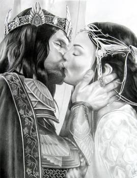 Aragorn and Arwen by Starkadder