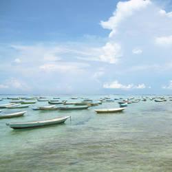 Fishingboats at Nusa Lembongan by accessQ