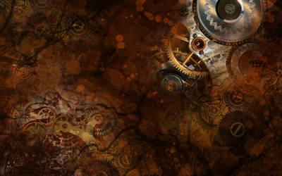 Steampunk Wallpaper by SpaceTurtleStudios