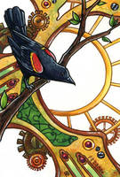 Clockwork Blackbird by SpaceTurtleStudios