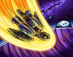 Space Turtle Prepares for Landing by SpaceTurtleStudios