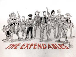 The EXLANDABLES (european comics) by Vinz-el-Tabanas