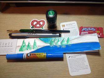 ArtSnacks- Blind Date Box- Watercolor Crush by Arerona