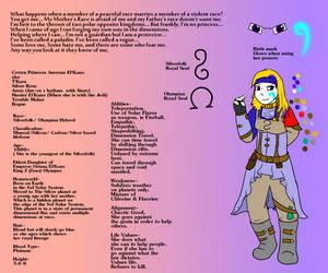 Arerona reference sheet by Arerona