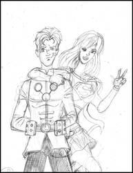 LSH COUPLE supergirl and Brainiac 5 by samayoa