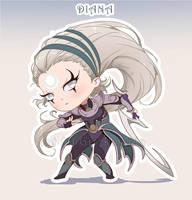 Chibi Diana - League of Legends by GisAlmeida